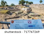ruins of ancient legendary...   Shutterstock . vector #717767269