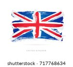 flag of the great britain.... | Shutterstock .eps vector #717768634