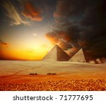 Grate Pyramids In Giza Valley....