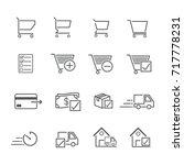 line icon for online shopping ... | Shutterstock .eps vector #717778231