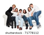 a group of family members... | Shutterstock . vector #71778112