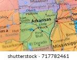 arkansas map | Shutterstock . vector #717782461