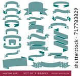 flat vector set of vintage... | Shutterstock .eps vector #717783829