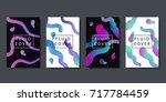 vector set of realistic... | Shutterstock .eps vector #717784459