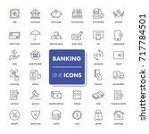 line icons set. banking pack.... | Shutterstock .eps vector #717784501