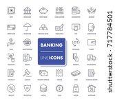 line icons set. banking pack.... | Shutterstock .eps vector #717784501