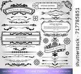 vintage ornate elements design  ... | Shutterstock .eps vector #717785851