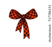 orange bow with a geometric... | Shutterstock .eps vector #717786151