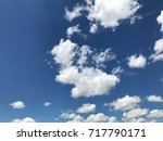 Small photo of Blue sky and white cloud at noon of the brighter day