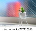ornamental pot put inside of... | Shutterstock . vector #717790261
