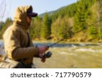 trout fishing in the mountain... | Shutterstock . vector #717790579