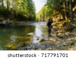 trout fishing in the mountain... | Shutterstock . vector #717791701