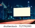 blank template  for outdoor... | Shutterstock . vector #717791995