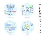 video conferencing  online... | Shutterstock .eps vector #717792514