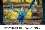 little baby learns to walk ... | Shutterstock . vector #717797869