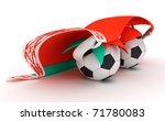3d cartoon soccer ball... | Shutterstock . vector #71780083