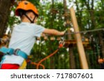 children's active recreation... | Shutterstock . vector #717807601