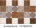 abstract home decorative art...   Shutterstock . vector #717809551
