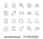 human resources and management... | Shutterstock .eps vector #717810331
