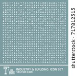 industry and building icon set... | Shutterstock .eps vector #717812515