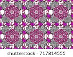 abstract seamless pattern with... | Shutterstock . vector #717814555