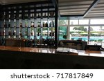 the interior of the pool bar is ... | Shutterstock . vector #717817849