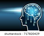 artificial intelligence. human...   Shutterstock .eps vector #717820429