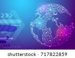 abstract image planet earth in... | Shutterstock .eps vector #717822859