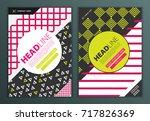 modern vector abstract brochure ... | Shutterstock .eps vector #717826369