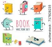 Cute Cartoon Book Character...
