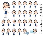 set of various poses of sailor... | Shutterstock .eps vector #717830179