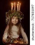 Little Caucasian Girl In Saint...