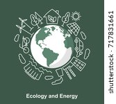 earth and energy sources.... | Shutterstock . vector #717831661
