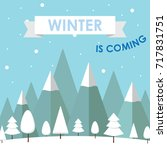 winter event sale background | Shutterstock .eps vector #717831751