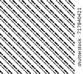 black diagonal dashed lines... | Shutterstock .eps vector #717840421