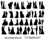 isolated silhouette of the... | Shutterstock . vector #717849337