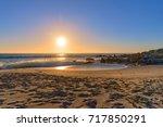 sunset beach cape town | Shutterstock . vector #717850291