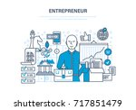entrepreneur concept. start up... | Shutterstock . vector #717851479