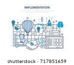 implementation concept.... | Shutterstock . vector #717851659