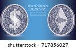 ethereum digital currency... | Shutterstock .eps vector #717856027