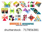 triangle geometric infographic... | Shutterstock .eps vector #717856381