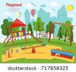 children's playground | Shutterstock .eps vector #717858325
