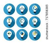flat icon finance idea of... | Shutterstock .eps vector #717858385