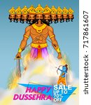 illustration of lord rama and...   Shutterstock .eps vector #717861607