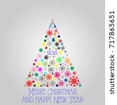 new year card 2018 | Shutterstock .eps vector #717865651