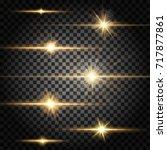 set of vector horizontal... | Shutterstock .eps vector #717877861