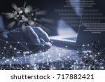business man  programmer ... | Shutterstock . vector #717882421