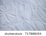 skiing slope from above | Shutterstock . vector #717888454