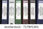 multiple office folders with...   Shutterstock . vector #717891301