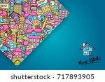 real estate concept cartoon... | Shutterstock .eps vector #717893905